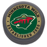 Minnesota Wild Hockey Puck Packaged Est 2000 Design