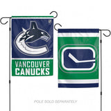 Vancouver Canucks Flag 12x18 Garden Style 2 Sided