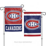 Montreal Canadiens Flag 12x18 Garden Style 2 Sided