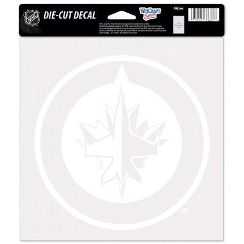Winnipeg Jets Decal 8x8 Perfect Cut White Special Order
