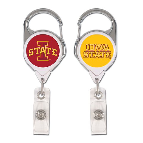 Iowa State Cyclones Badge Holder Premium Retractable
