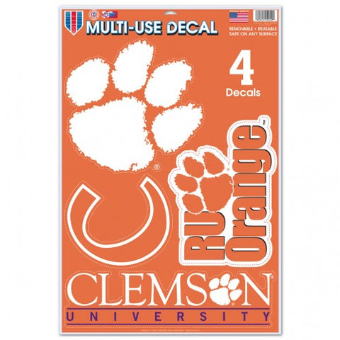 Clemson Tigers Decal 11x17 Ultra