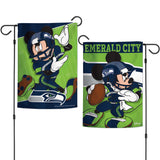 Seattle Seahawks Flag 12x18 Garden Style 2 Sided Disney Special Order