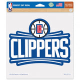Los Angeles Clippers Decal 8x8 Die Cut Color - Special Order