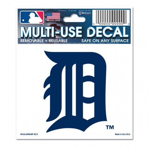 Detroit Tigers Decal 3x4 Multi Use White Special Order