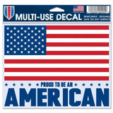American Flag Decal 5x6 Multi Use Color - Special Order