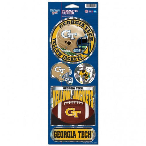 Georgia Tech Yellow Jackets Stickers Prismatic
