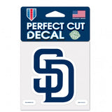San Diego Padres Decal 4x4 Perfect Cut Color