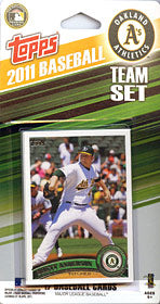 Oakland Athletics 2011 Topps Team Set