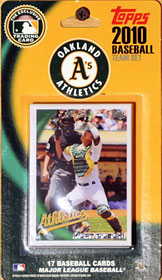 Oakland Athletics 2010 Topps Team Set