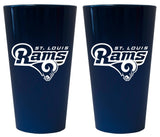 St. Louis Rams Glass Pint Lusterware Style Set of 2