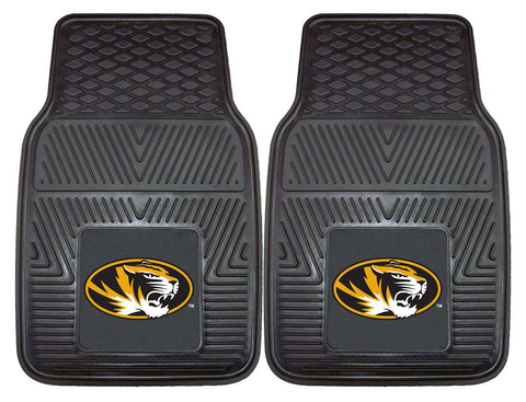 Missouri Tigers Heavy Duty 2-Piece Vinyl Car Mats