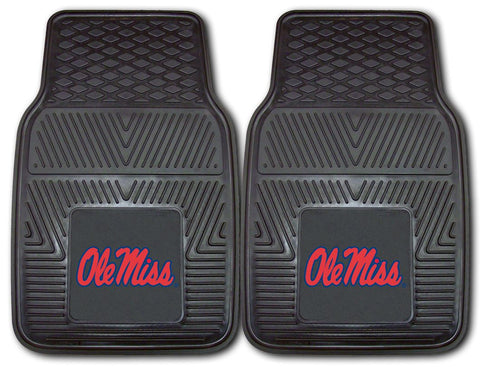 Mississippi Rebels Heavy Duty 2-Piece Vinyl Car Mats