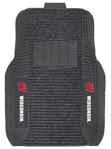 Wisconsin Badgers Car Mats - Deluxe Set - Special Order