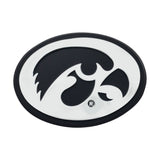 Iowa Hawkeyes Auto Emblem Premium Metal Chrome