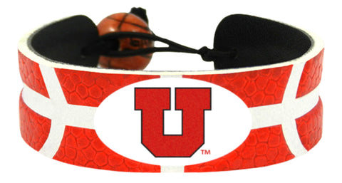 Utah Utes Team Color Basketball Bracelet