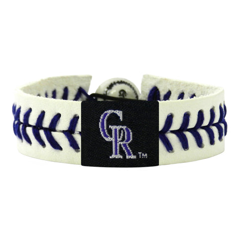 Colorado Rockies Bracelet Lavender Genuine Baseball