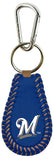 Milwaukee Brewers Team Color Baseball Keychain