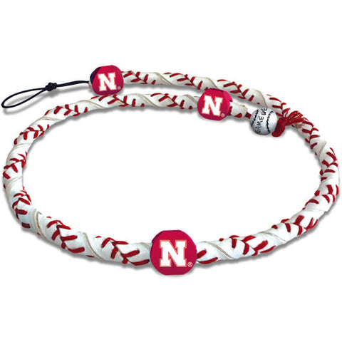 Nebraska Cornhuskers Classic Frozen Rope Baseball Necklace