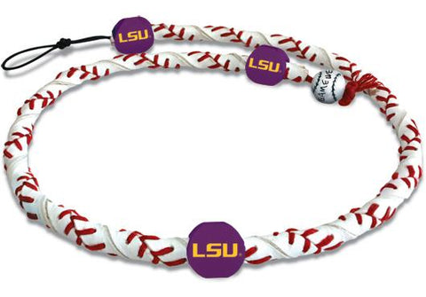 LSU Tigers Classic Frozen Rope Baseball Necklace