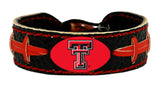 Texas Tech Red Raiders Team Color Football Bracelet