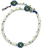 Milwaukee Brewers Team Color Frozen Rope Baseball Necklace