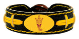 Arizona State Sun Devils Pitchfork Logo Team Color Football Bracelet