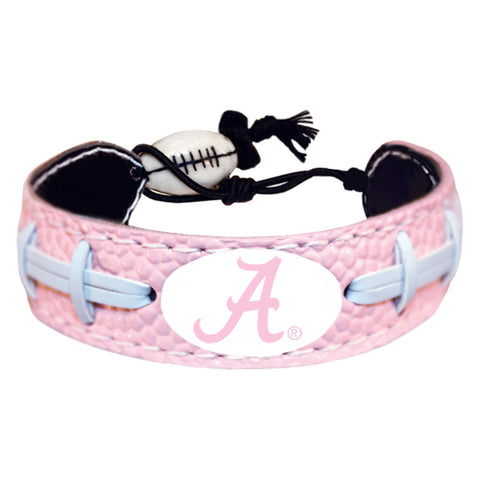 Alabama Crimson Tide Bracelet Pink Football A Logo