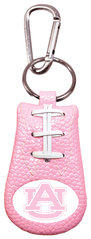 Auburn Tigers Pink Football Keychain