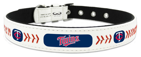 Minnesota Twins Classic Leather Small Baseball Collar