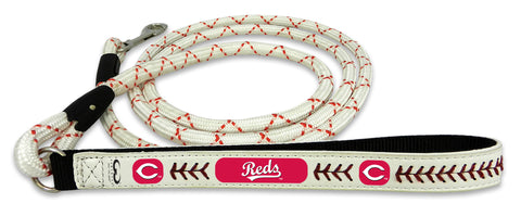 Cincinnati Reds Baseball Leather Leash - M