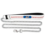 New York Mets Baseball Leather Leash - L