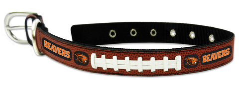 Oregon State Beavers Classic Leather Medium Football Collar - Special Order