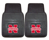 Nebraska Cornhuskers  Heavy Duty 2-Piece Vinyl Car Mats