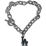 Los Angeles Dodgers Bracelet Chain Link Style
