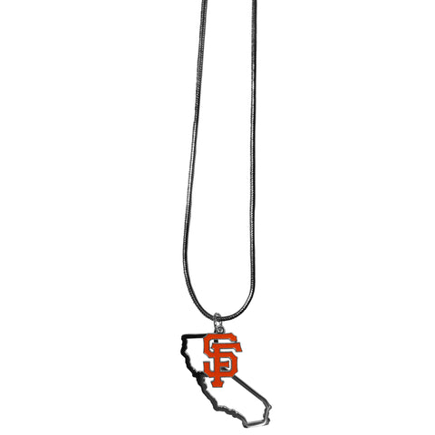 San Francisco Giants Necklace Chain with State Shape Charm