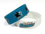 San Jose Sharks Bracelets - 2 Pack Wide