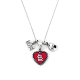 St. Louis Cardinals Necklace Charmed Sport Love Baseball