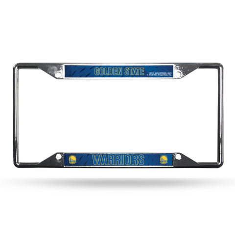 Golden State Warriors License Plate Frame Chrome EZ View