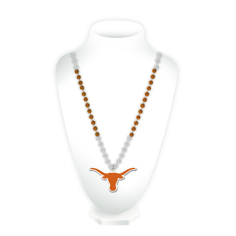Texas Longhorns Beads with Medallion Mardi Gras