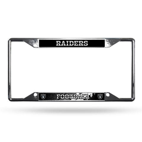 Las Vegas Raiders License Plate Frame Chrome EZ View Raiders Nation