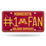 Minnesota Golden Gophers License Plate #1 Fan Alternate Design