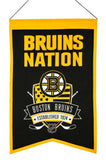 Boston Bruins Banner 14x22 Wool Nations