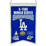 Los Angeles Dodgers Banner 14x22 Wool Championship