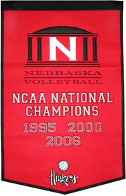Nebraska Cornhuskers Banner 24x36 Wool Dynasty Volleyball