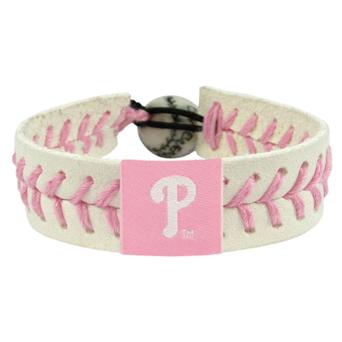 Philadelphia Phillies Bracelet Baseball Pink