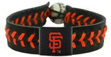San Francisco Giants Baseball Bracelet - Team Color Style, Black