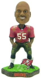 Tampa Bay Buccaneers Derrick Brooks Game Worn Forever Collectibles Bobblehead