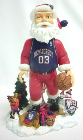 New Jersey Nets Santa Forever Collectibles Bobblehead