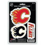 Calgary Flames Decal Die Cut Team 3 Pack